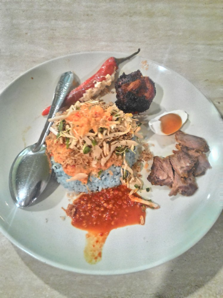 Nasi Kerabu (Herb Rice Salad)