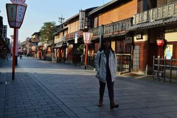 Gion, the most famous geisha district Kyoto.