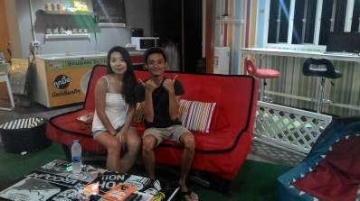 Met Hana from Korea, during my stay at a hostel in Krabi,Thailand. She was the only Asian in my dorm and eventually hangout for dinner.Still keeps in touch.